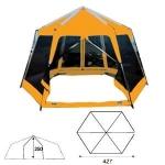 Туристический тент-шатёр Sol Mosquito color (orange, green, blue)