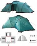 Кемпинговая палатка Tramp Brest +9 (Трамп Брест +9)