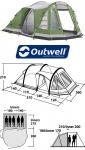 Кемпинговая палатка Outwell Evolution Nevada MP