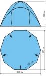 Туристический Тент-шатер Maverick Comfort big 600