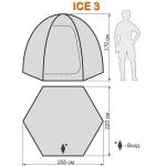 Палатка для зимней рыбалки World of Maverick ICE 3 (Маверик Айс 3)