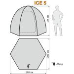 Палатка для зимней рыбалки World of Maverick ICE 5 NEW (Маверик Айс 5 нью)