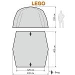Туристический шатер-тент Maverick Lego Premium (Маверик Лего Премиум)